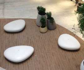 Stone Bench in smooth UHP Concrete