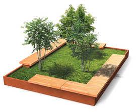 Grandifioriere bench and planter