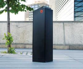 Crystal All-steel Litter Bin for smokers