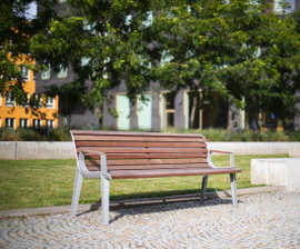 Emau Park Bench with Backrest