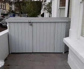 BIke shed for bay window space