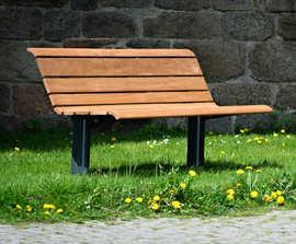 NISHA cast iron and timber park bench seat