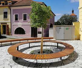 RADIANO circular park and street bench
