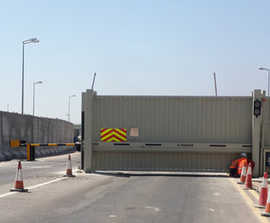 High security HVM barriers and gates for Iraq oil fields