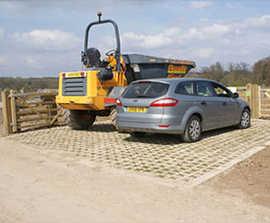 Grasscrete for spillway and access roads, Cobbins Brook