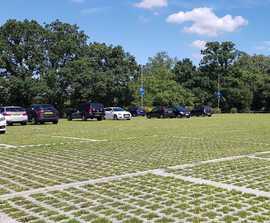 Concrete paver system for new Saracens FC car park