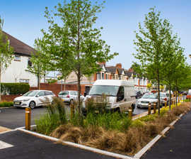 Sustainable tree planting in innovative SuDS scheme