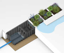HydroPlanter™ - rainwater bio-retention modular planter