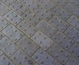 Tactile clay blister pavers