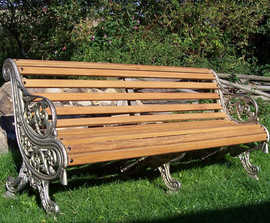 Falkirk Royal cast iron and timber bench