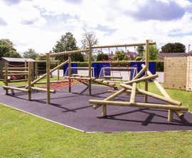 PlayGuard™ timber for playground equipment and fencing