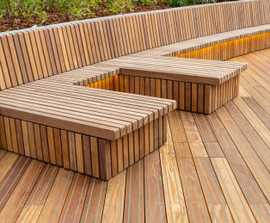 Decking for marina boardwalk - Marine Deck, Wood Wharf