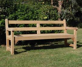 Greenwich iroko heavy-duty park bench