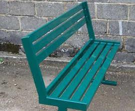 Upland steel external bench