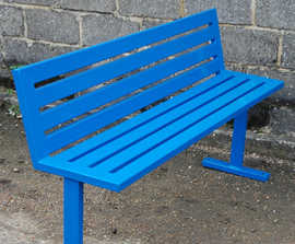 Epping stainless steel external bench