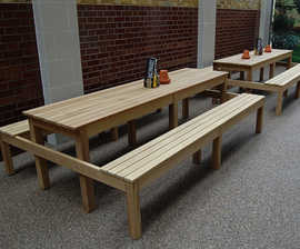 Deluxe iroko picnic tables and benches