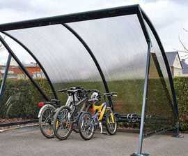Moonshape cycle shelter