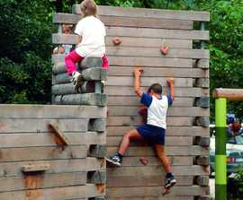 Richter Spielgeräte climbing wall with 2 or 4 elements