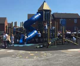 Playground transformation for primary school