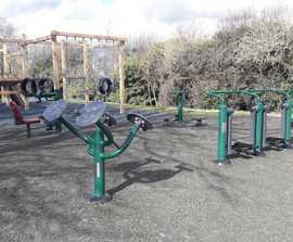 Children's outdoor gym equipment