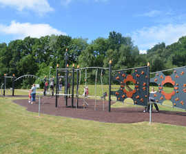 Play equipment for all ages at Mill Park, Bracknell