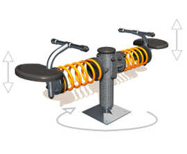 Rotatwin - springer type rotating seesaw (J3603)