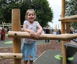 Natural timber play equipment for adventure playground