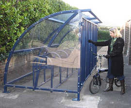 Solent bicycle shelter and compound