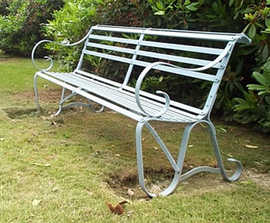 Wentworth wrought iron bench