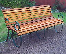 Letchworth steel-framed seat